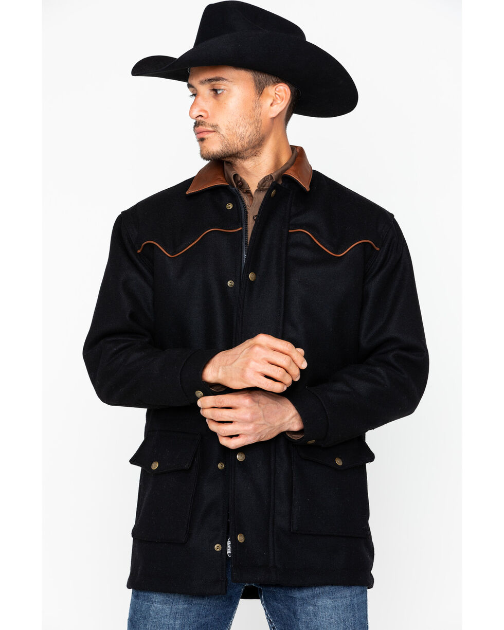 Schaefer Outfitter Men's 220 Wool Big Country Rancher Coat, Black, hi-res