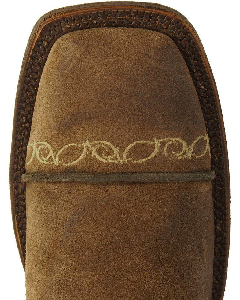 Justin Bent Rail Suede Testa Cowboy Boots- Wide Square Toe, Testa, hi-res