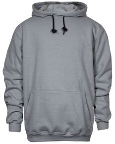 National Safety Apparel Men's 2X-3X Grey FR Heavyweight Hooded Work Sweatshirt - Tall, Grey, hi-res