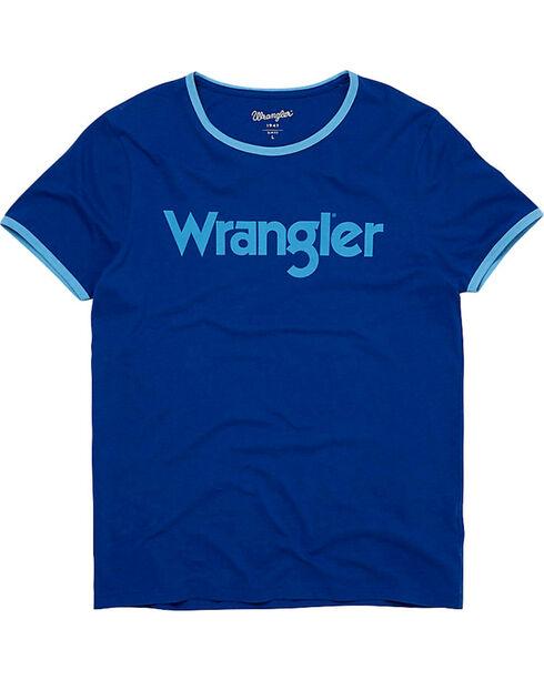 Wrangler Men's Kabel Logo Ringer Tee, Blue, hi-res