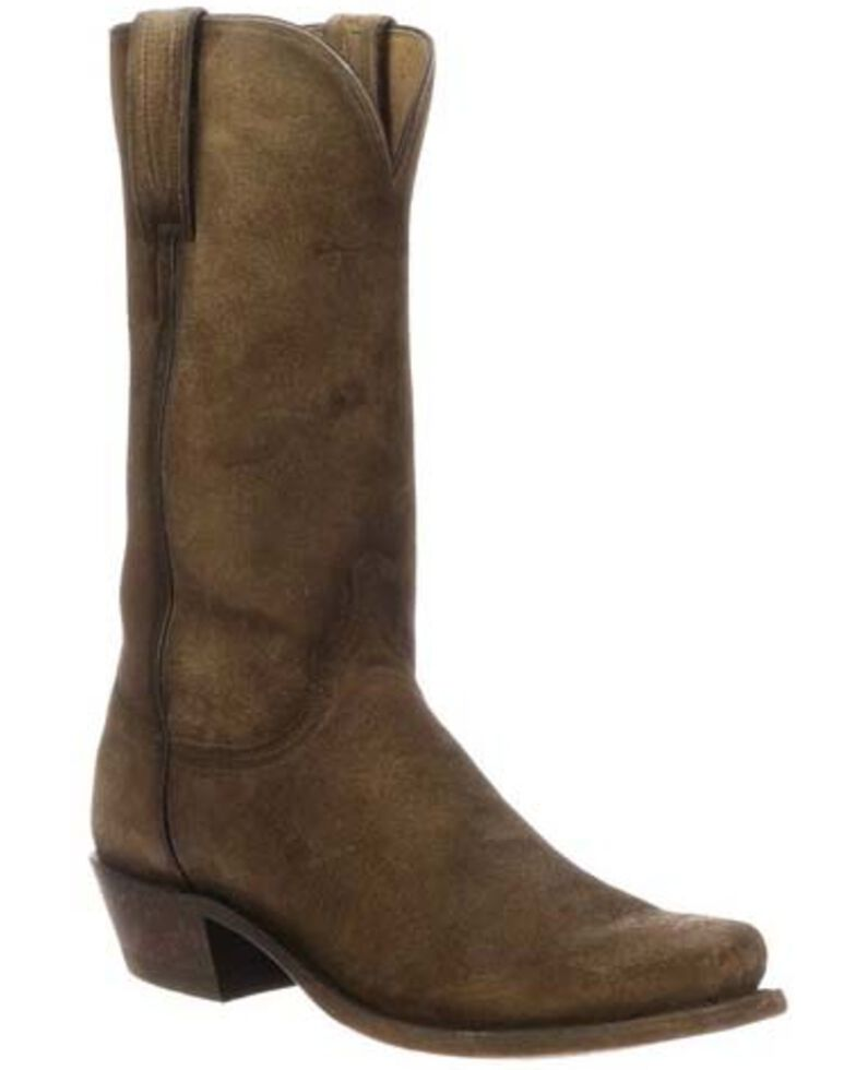 40835778f44 Lucchese Men's Livingston Frontier Suede Western Boots - Narrow Square Toe