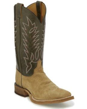 Justin Men's Kerrville Western Boots - Wide Square Toe, Beige/khaki, hi-res