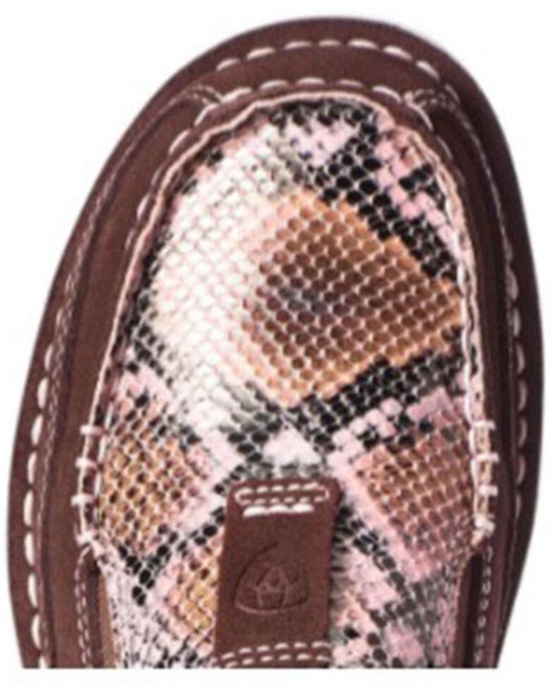 Ariat Women's Snake Print Cruiser Shoes - Moc Toe, Brown, hi-res