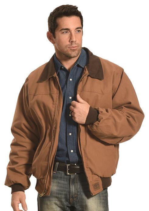 Forge Workwear Men's Brown Canvas Work Jacket , Brown, hi-res