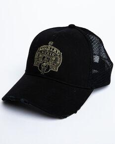 Moonshine Spirit Men's Country Music Guitar Embroidered Ball Cap, Black, hi-res