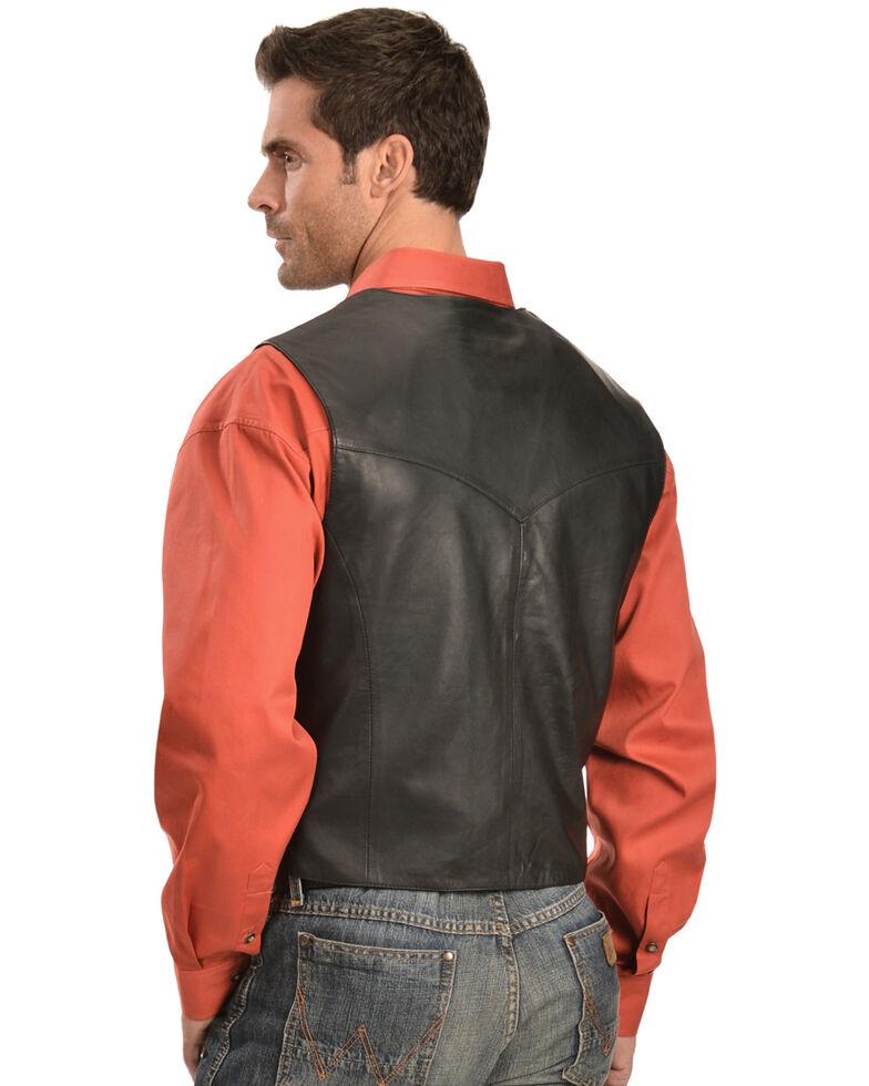 Scully Lambskin Snap Front Vest, Black, hi-res