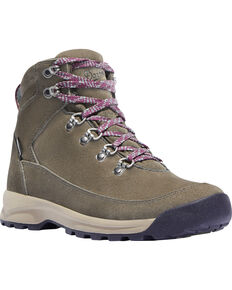 Danner Women's Adrika Hiker Lace Up Boots - Round Toe, Ash, hi-res