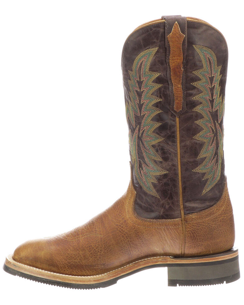 Lucchese Men's Rudy Western Boots - Square Toe, Tan, hi-res