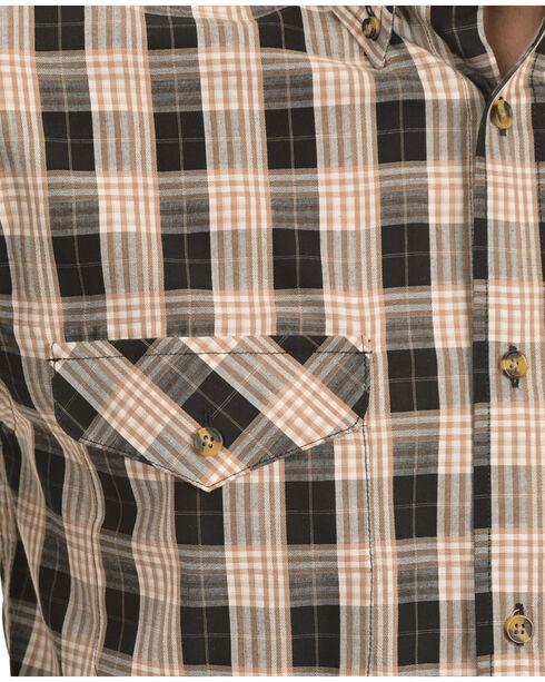 Gibson Trading Co. Black and Tan Plaid Long Sleeve Shirt, Black, hi-res