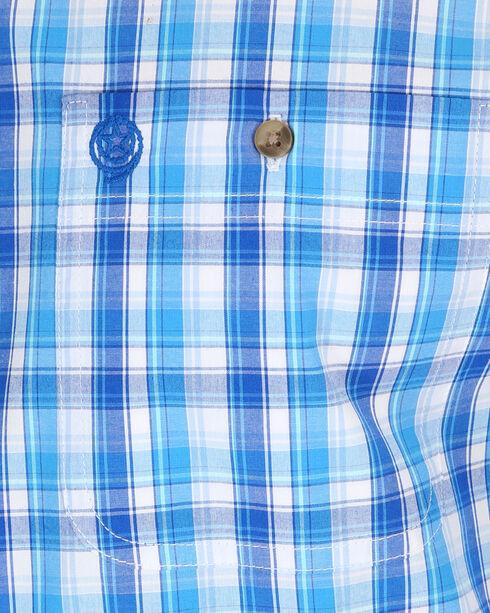 Wrangler Men's Blue George Strait Plaid Shirt - Tall, Blue, hi-res