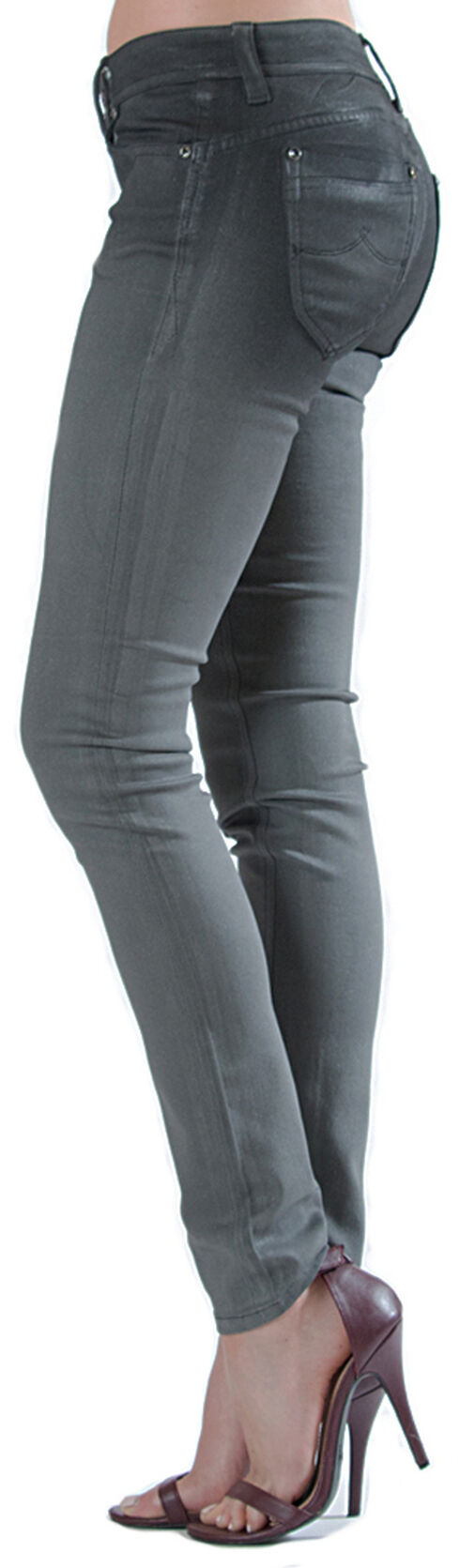 Grace in LA Women's Grey Cast Skinny Jeans, Indigo, hi-res