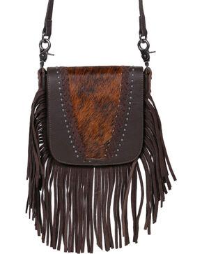 Shyanne Women's Faux Fur Fringe Crossbody Bag , Black, hi-res
