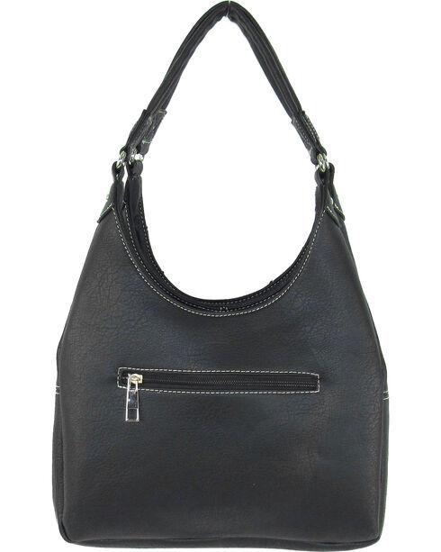 Savana Women's Fierce Conceal Carry Snake and Stud Handbag , Black, hi-res