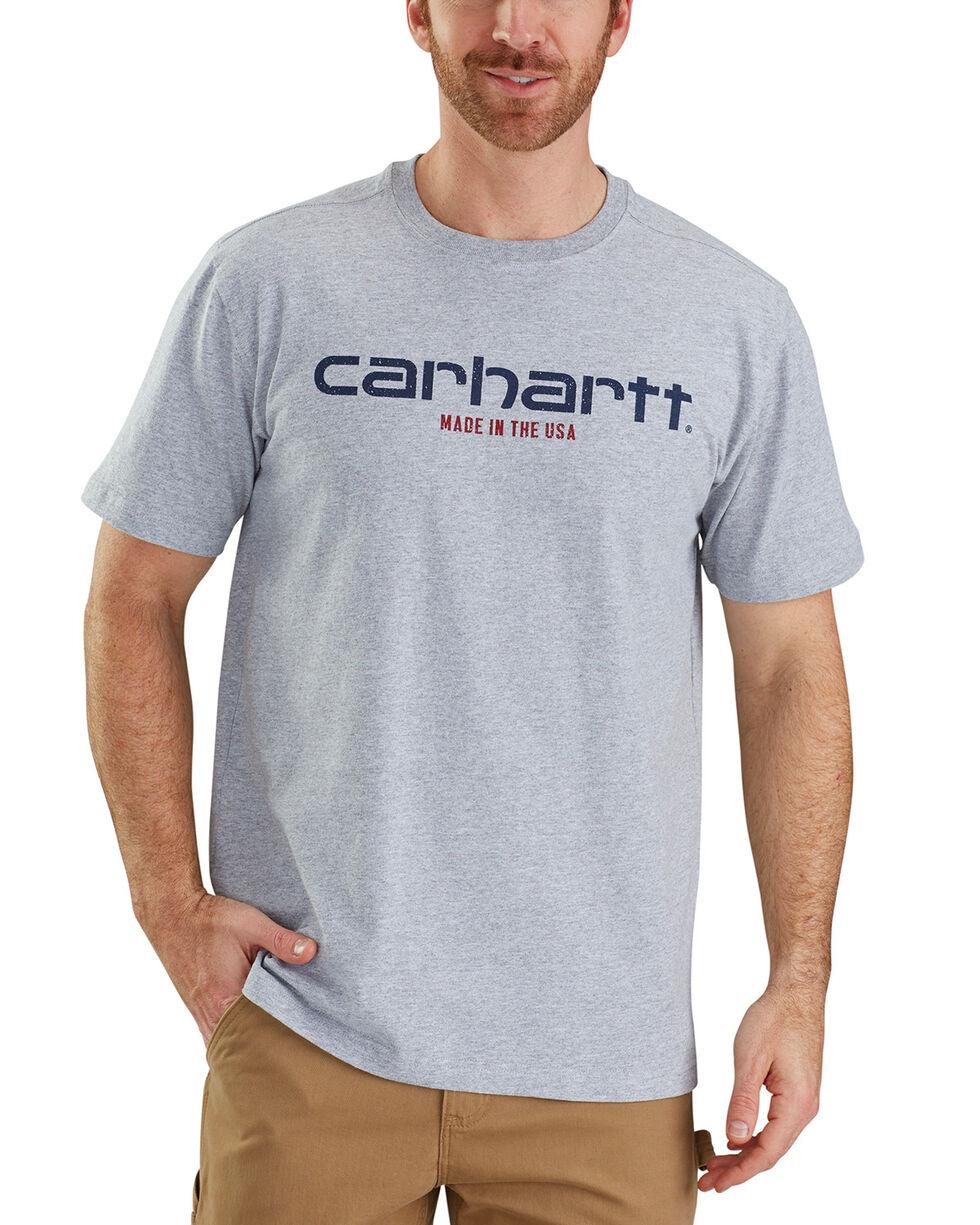 Carhartt Men's Gray Lubbock Graphic in USA Tee - Big, Heather Grey, hi-res