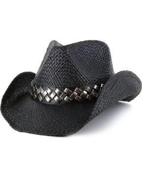 Cody James Men's Tough Edge Straw Hat, Black, hi-res