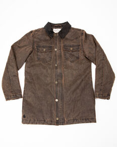Cody James Boys' Westward Oil Skin Field Coat , Brown, hi-res