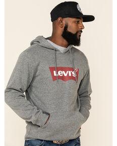 Levi's Men's Steel Grey Batwing Logo Graphic Hooded Sweatshirt , Grey, hi-res