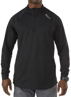 5.11 Tactical Men's Sub Z Quarter Zip, Black, hi-res