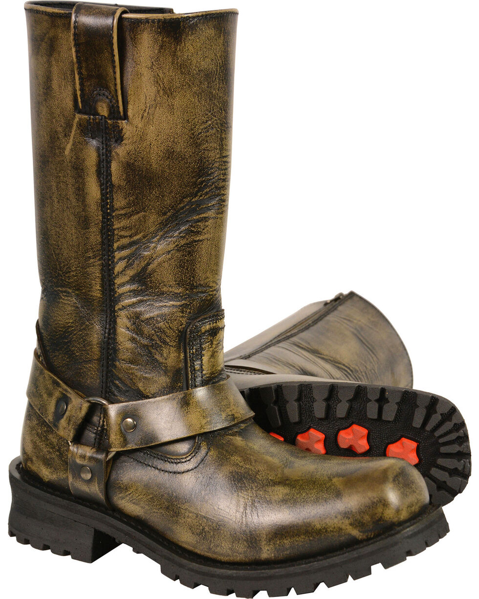 """Milwaukee Leather Men's Black Waterproof 11"""" Harness Boots - Square Toe, Black, hi-res"""