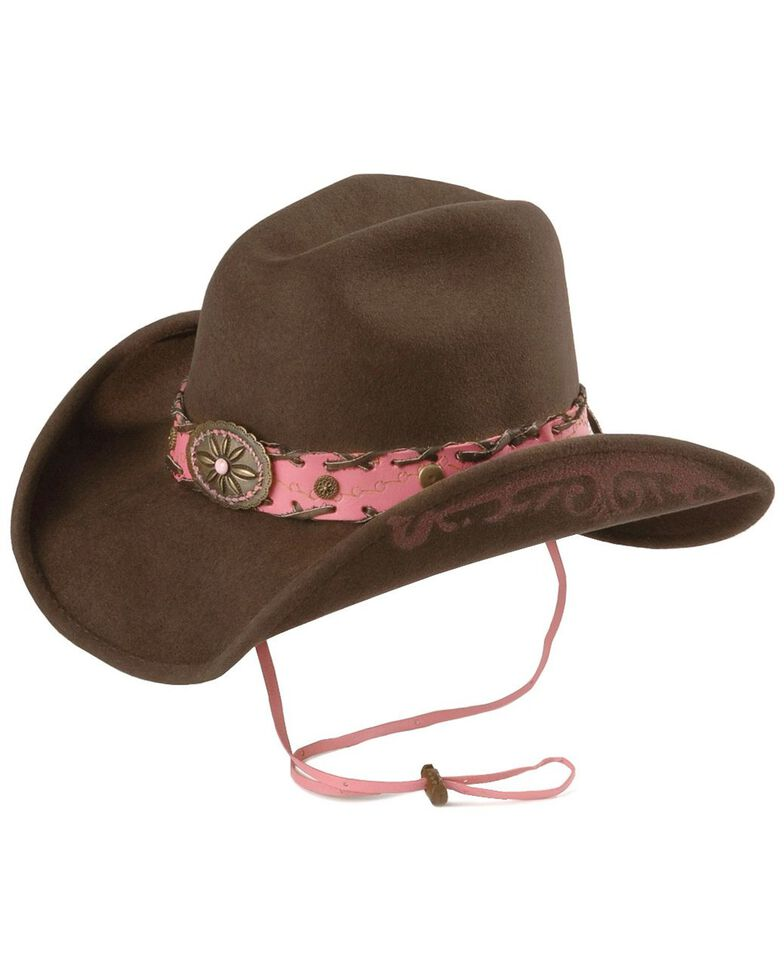 Bullhide Annie Oakley Cowgirl Hat, Chocolate, hi-res