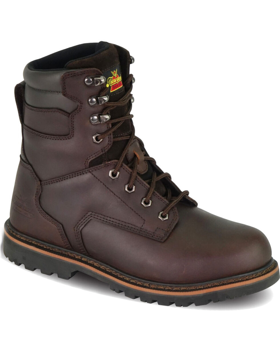 "Thorogood Men's V-Series 8"" Work Boots - Steel Toe, Brown, hi-res"