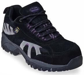 McRae Women's Poron XRD Met Guard Black Hiker Boots - Composite Toe, Black, hi-res