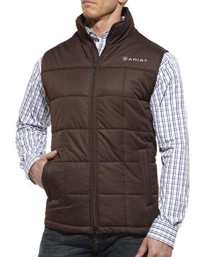 Ariat Men's Crius Vest, Coffee, hi-res