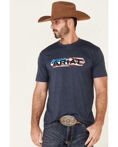 Ariat Men's Navy Flag Tone Graphic Short Sleeve T-Shirt , Navy, hi-res