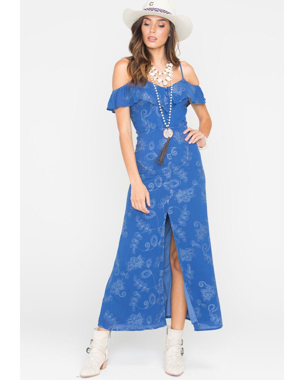 Sage the Label Women's Navy Vivian Maxi Dress , Navy, hi-res