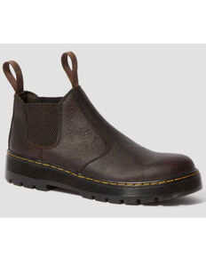 Dr. Martens Men's Brown Hardie Bear Track Chelsea Work Boots - Soft Toe, Dark Brown, hi-res