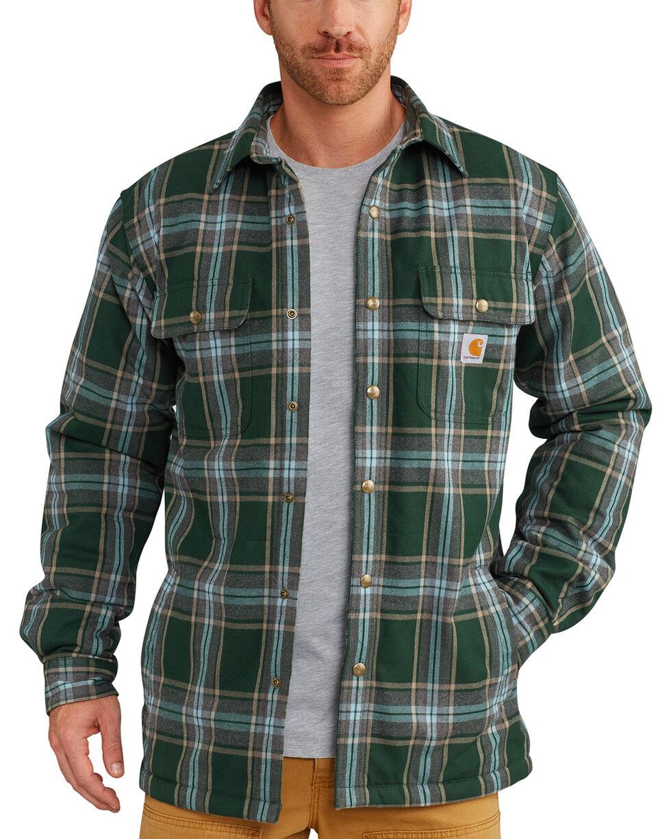 Carhartt Men's Hubbard Sherpa-Lined Shirt Jacket - Big, Green, hi-res