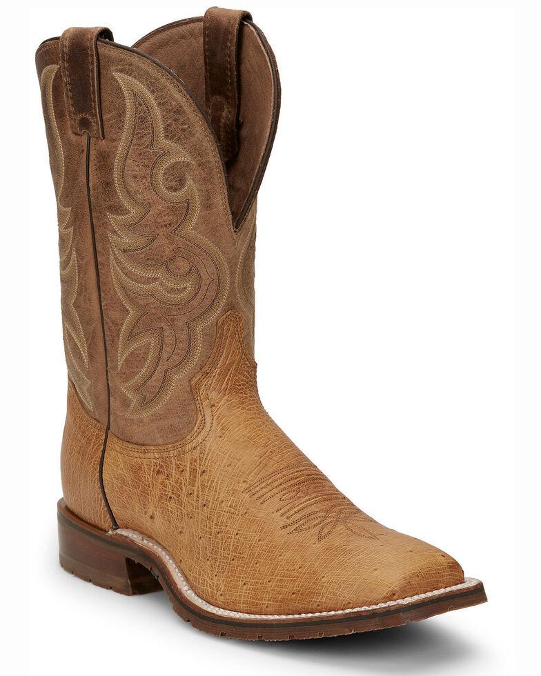 Tony Lama Men's Campbell Western Boots - Wide Square Toe, Tan, hi-res