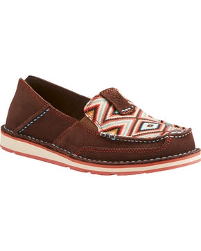 Ariat Women's Aztec Cruiser Shoes - Moc Toe , Multi, hi-res