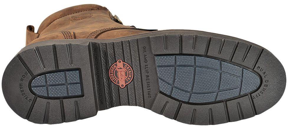 "Justin Men's J-Max 8"" Balusters Aged Bark EH Waterproof Work Boots - Soft Toe, Aged Bark, hi-res"
