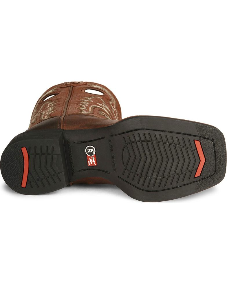 Tony Lama Boys' Tiny Lama 3R Tan Cowboy Boots - Square Toe, Tan, hi-res