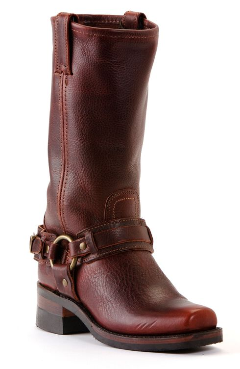 Frye Men's Belted Harness 12R Boots - Square Toe, Chestnut, hi-res