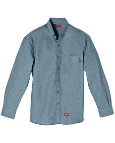 Dickies Men's Blue FR Chambray Long Sleeve Work Shirt, Blue, hi-res
