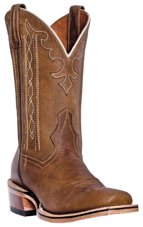 Dan Post Spritzer Cowboy Boots - Square Toe , Tan, hi-res