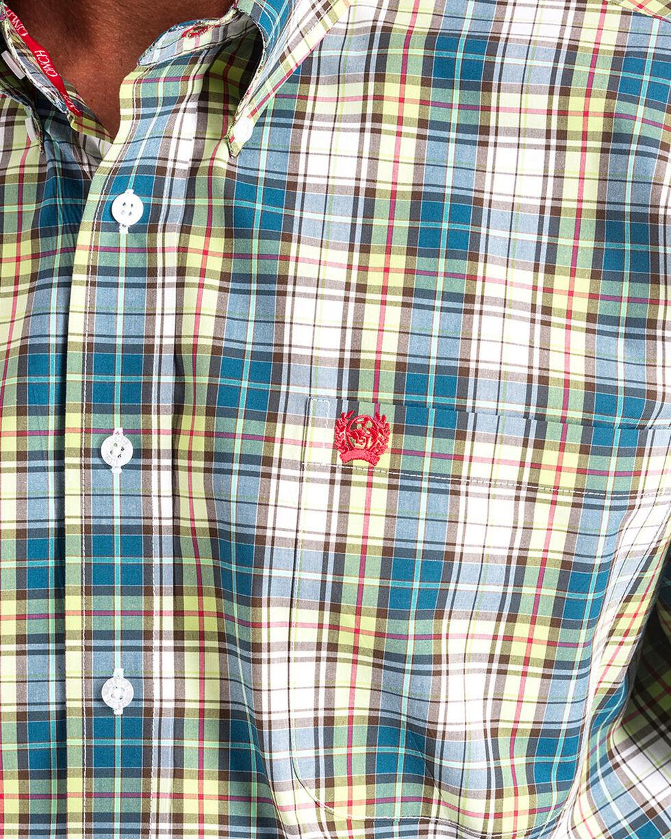 Cinch Men's Plaid Long Sleeve Button Down Shirt - Big, Multi, hi-res