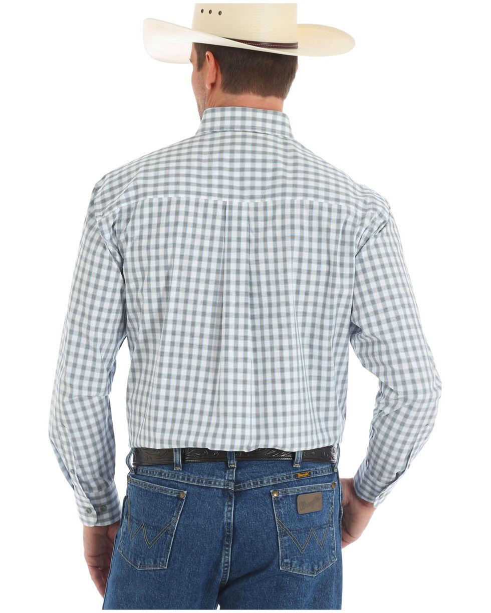 Wrangler George Strait Men's White Plaid Western Shirt , White, hi-res