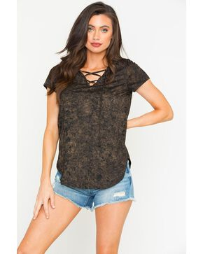Sage The Label Women's Copper Spirit In The Sky Tee , Black, hi-res