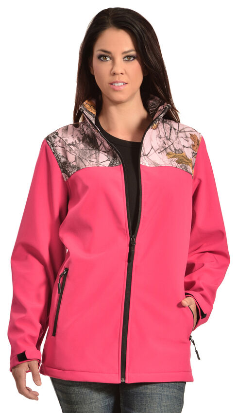 Red Ranch Pink Bonded Jacket with Camo, Pink, hi-res