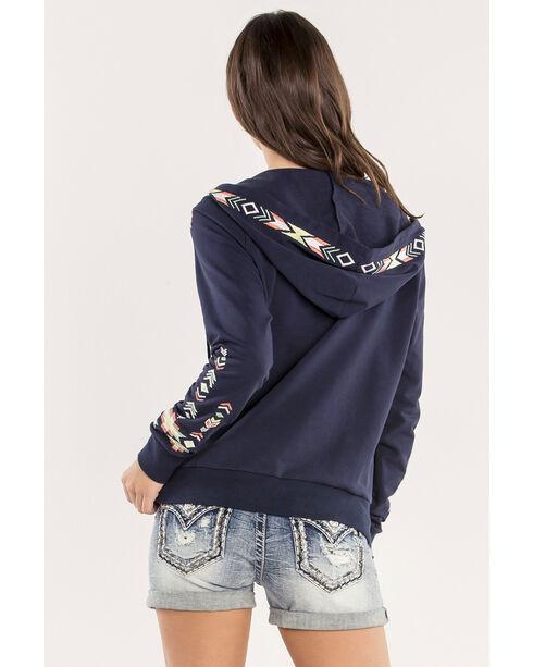 Miss Me Embroidered Full Zip Hoody, Navy, hi-res