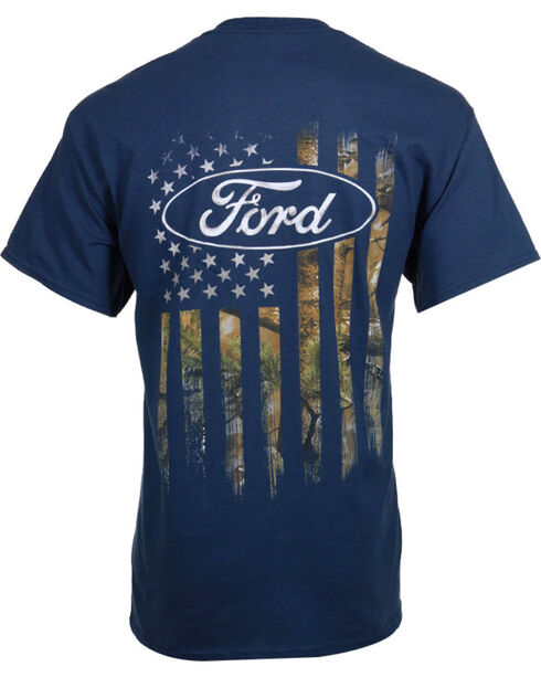 Buckwear Men's Ford Camo Flag Tee, Blue, hi-res