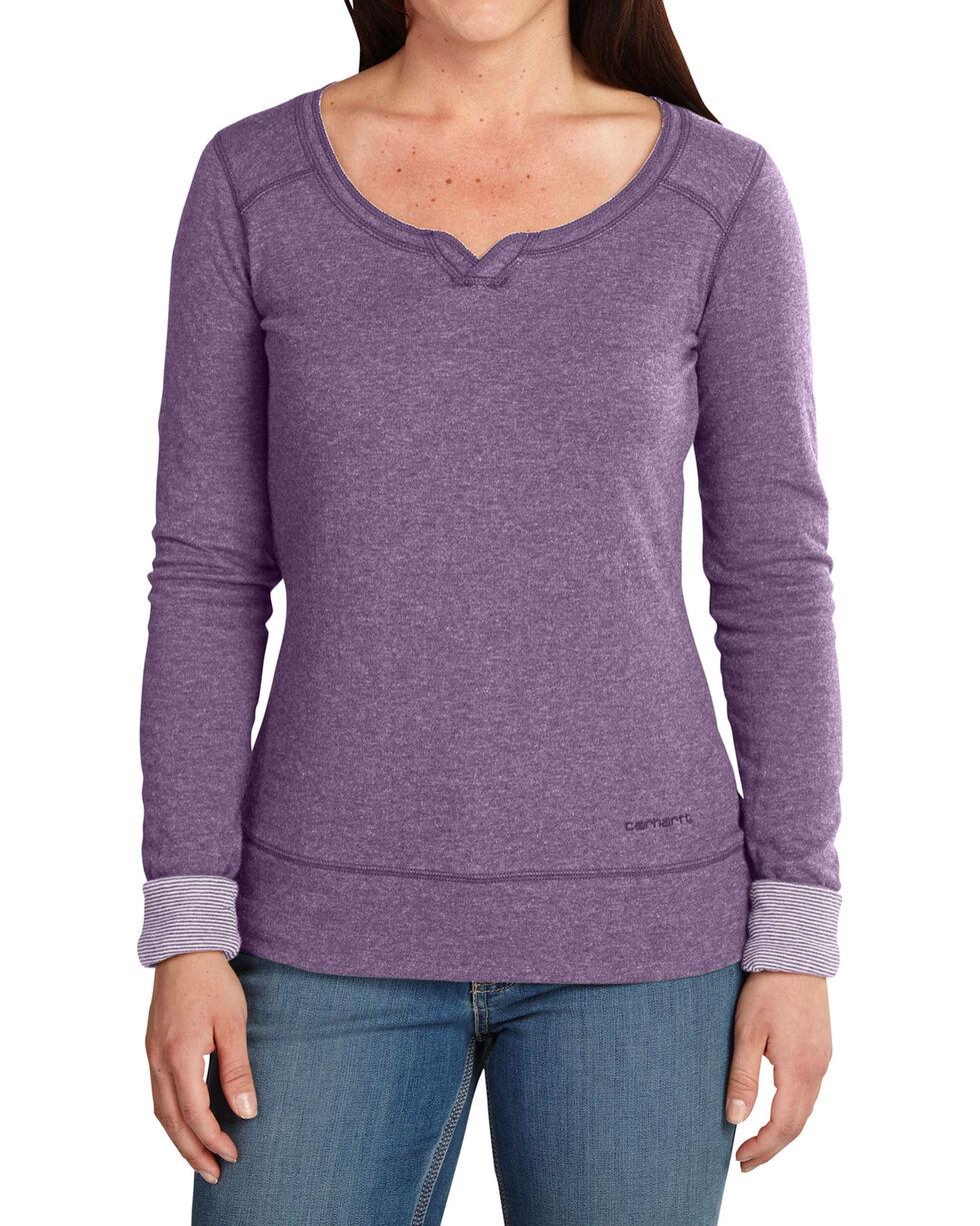 Carhartt Women's Purple Ponderosa Scoop Neck Shirt, Black, hi-res