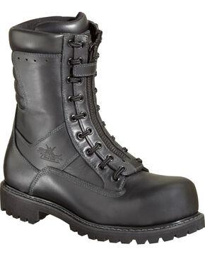 "Thorogood Men's 9"" HellFire EMS/Wildland Front-Zip Work Boots - Composite Toe, Black, hi-res"