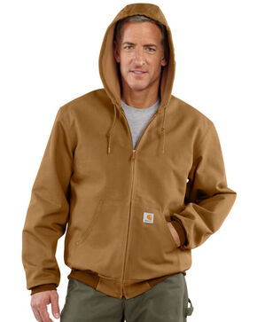 Carhartt Duck Active Thermal Lined Jacket - Big & Tall, Carhartt Brown, hi-res