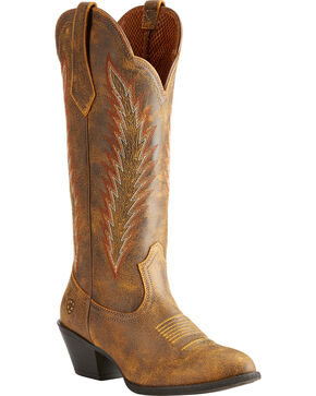 Ariat Women's Brown Desert Sky Vintage Bomber Boots - Round Toe , Brown, hi-res