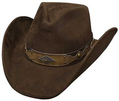 Bullhide Shadow in the Dust Faux Felt Hat, Chocolate, hi-res
