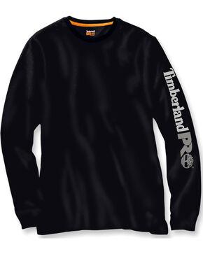 Timberland PRO Men's Black Base Plate Wicking Logo Long Sleeve T-Shirt, Black, hi-res